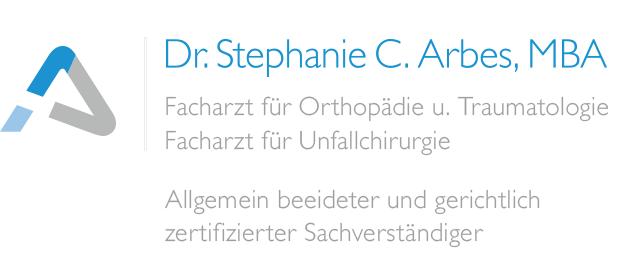 Dr. Arbes Fachärztin für Ortopädie und Traumatologie, Fachärztin für Unfallchirurgie